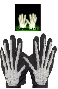 Guanti scheletro fosforescenti