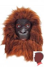 Maschera scimmia orango in lattice con pelliccia marrone