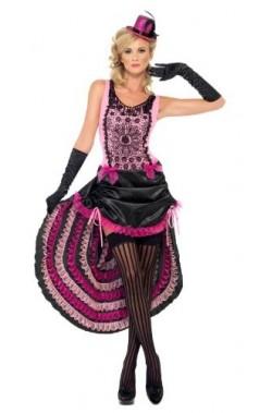 Costume donna sexy burlesque/vampira can can