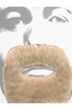 Barba e baffi pizzetto stile pirata o messicano biondi