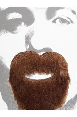 Barba e baffi pizzetto stile pirata o messicano marroni