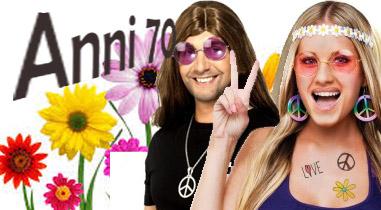 accessori per creare un costume anni 70 ed hippie
