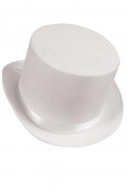 Cilindro bianco in feltro altezza 13 cm