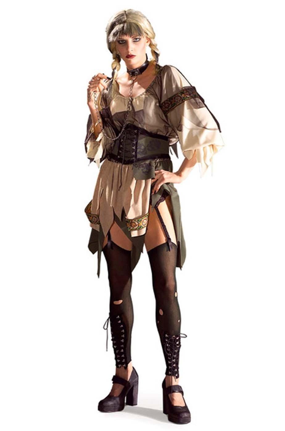 Costume donna Gretel horror o zombie Taglia Unica