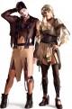 Coppia Costumi adulto Hansel e Gretel horror zombie Taglia Unica