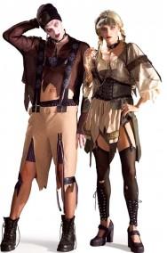 Coppia di costumi adulto Hansel e Gretel horror zombie Taglia Unica