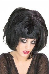 Parrucca donna corta nera emo a caschetto biancaneve