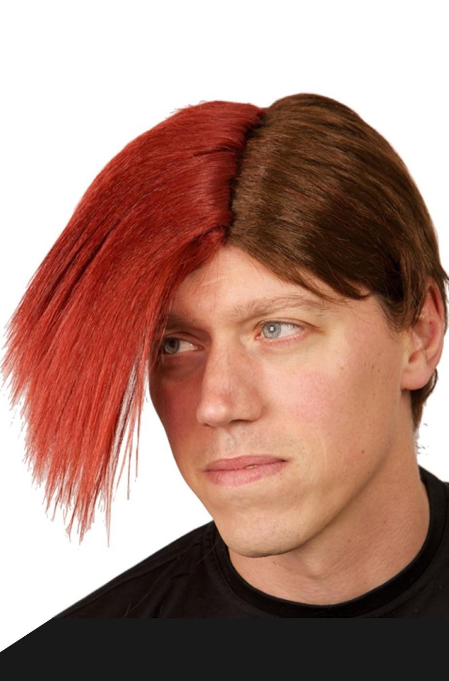 Parrucca rossa sfumata emo liscia lunga senza frangia scalata anni 80