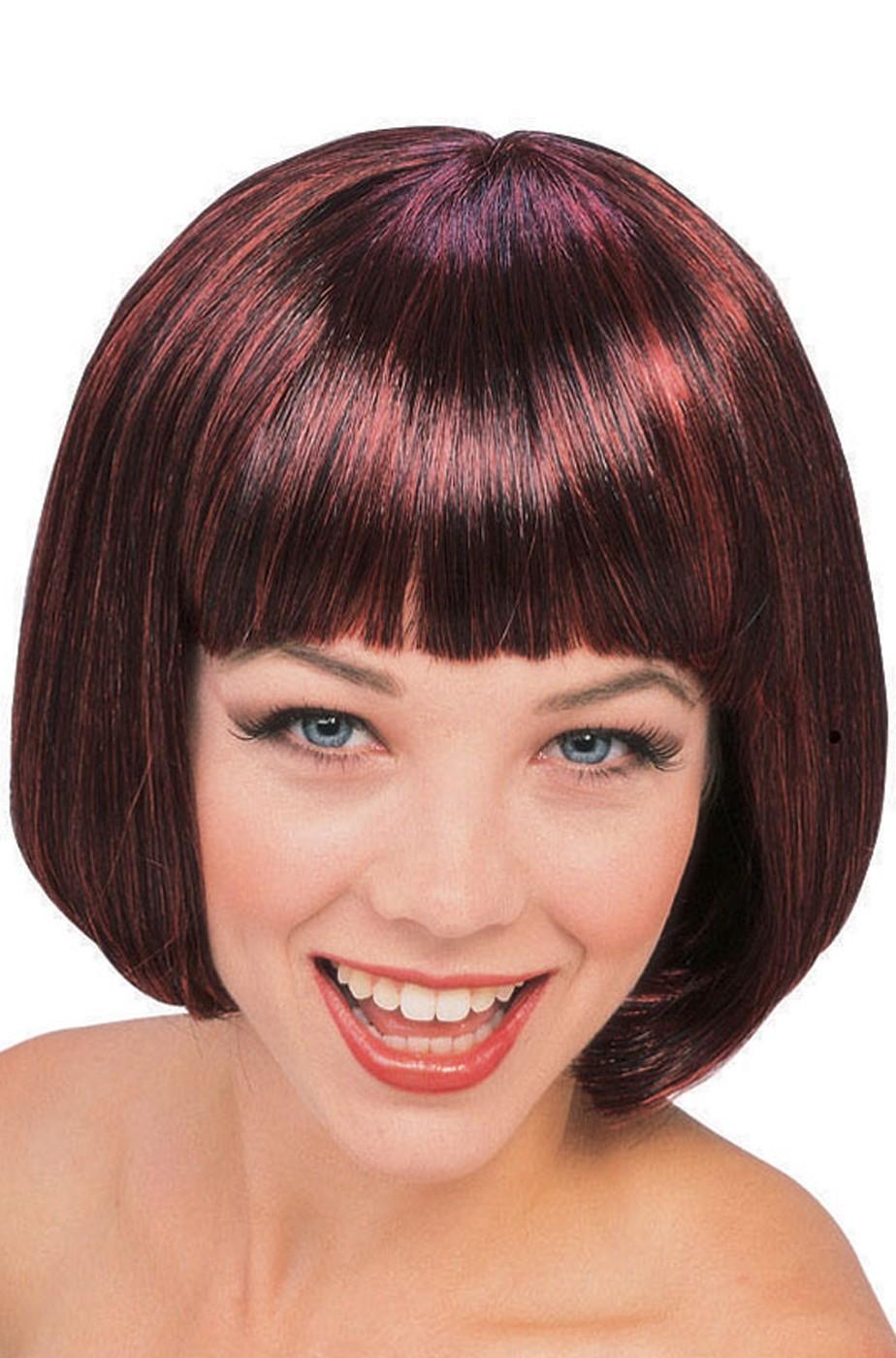 Parrucca donna a caschetto marrone ma quasi rossa