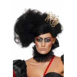Parrucca donna nera regina dark