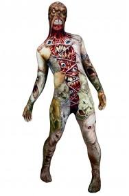 Costume Morphsuit Horror Facelift 2nd skin seconda pelle M