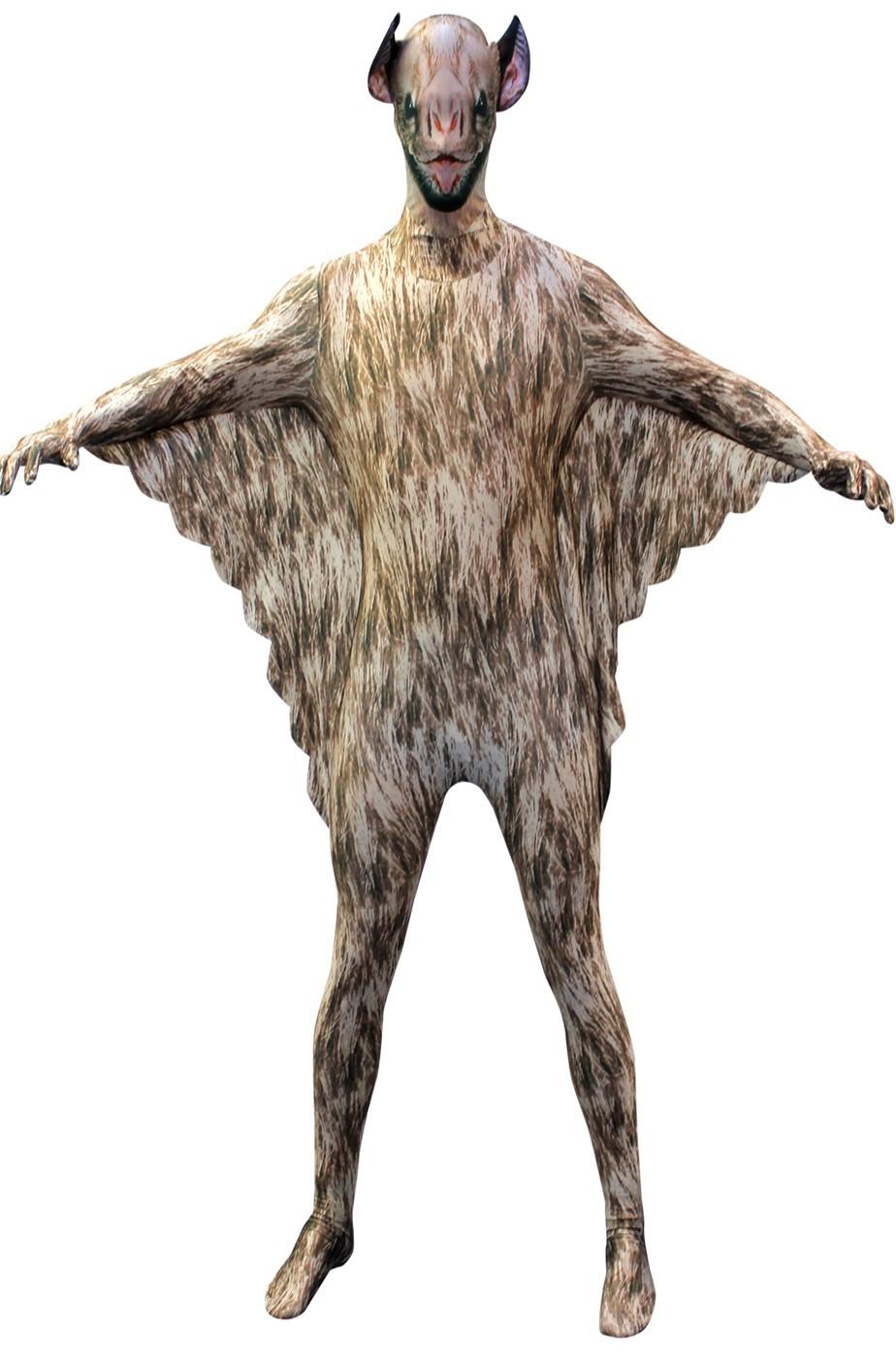 Costume Morphsuit Pipistrello Vampiro 2nd skin seconda pelle M