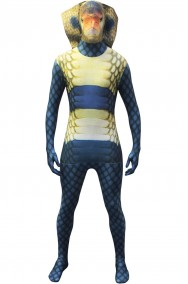 Costume carnevale da serpente cobra Morphsuit originale 2nd skin