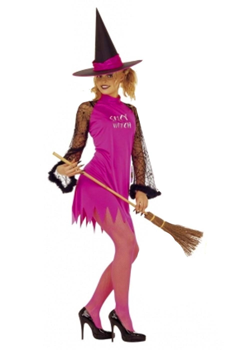 Costume donna Strega colore rosa