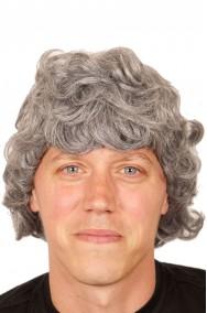 Parrucca uomo corta grigia
