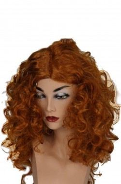 Parrucca donna lunga marrone castano mossa