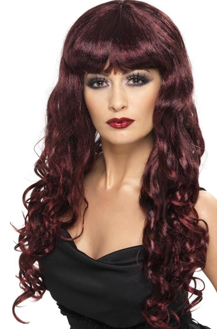 Parrucca donna lunga ramata liscia