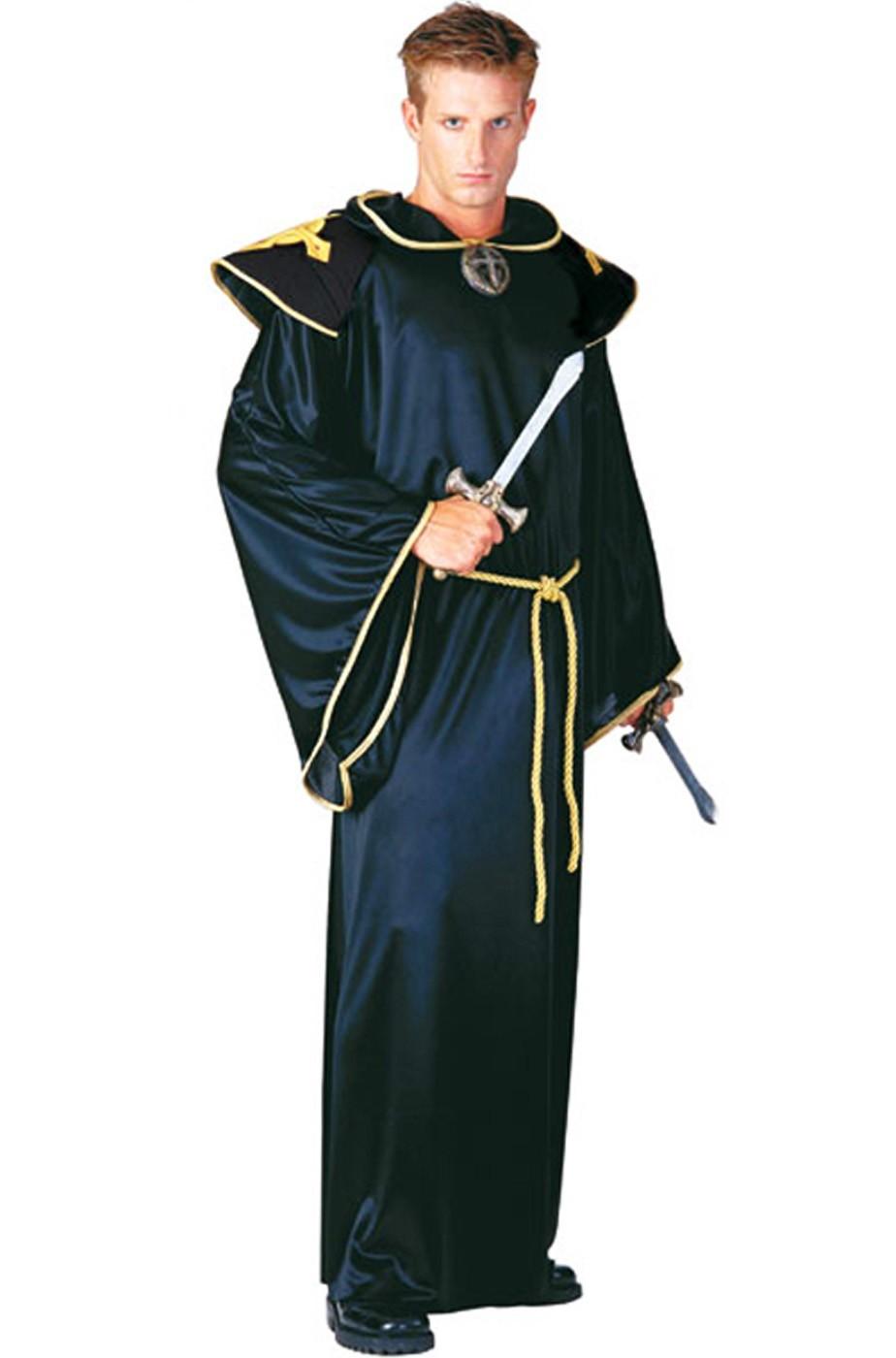 Costume uomo esorcista prete vampiro sacerdote