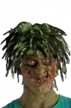 Parrucca uomo corta verde zombie