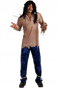 Costume Vodoo bambolotto zombie o fantasma NON INCLUDE PARRUCCA