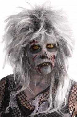 Parrucca donna corta bianca zombie