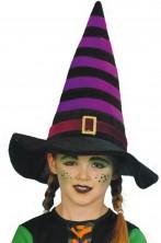 Cappello da Befana o Strega bambina viola