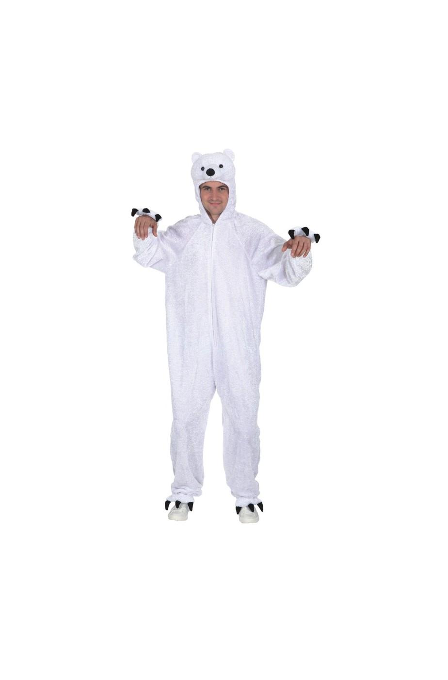 Costume orso Bianco adulto