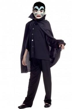 Mantello vampiro nero solo mantello 70 cm