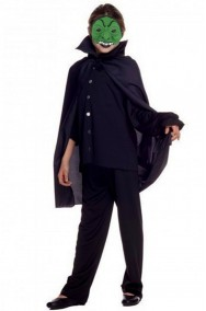Set Halloween bambina offerta maschera strega e mantello 70 cm