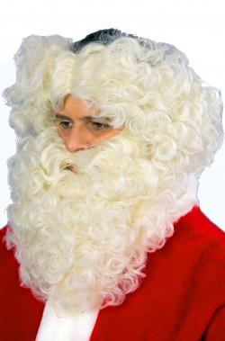 Set Babbo Natale Contorno Testa Barba e Baffo champagne