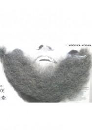 Trucco teatrale barba finta a trama sottile realistica grigia
