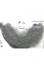 Barba finta a trama sottile realistica grigia