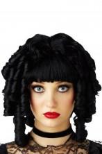 Parrucca bambola gotica nera
