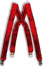 Bretelle rosse in paillettes