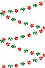 Decorazione natalizia o festone a stella di natale rosse 30 metri