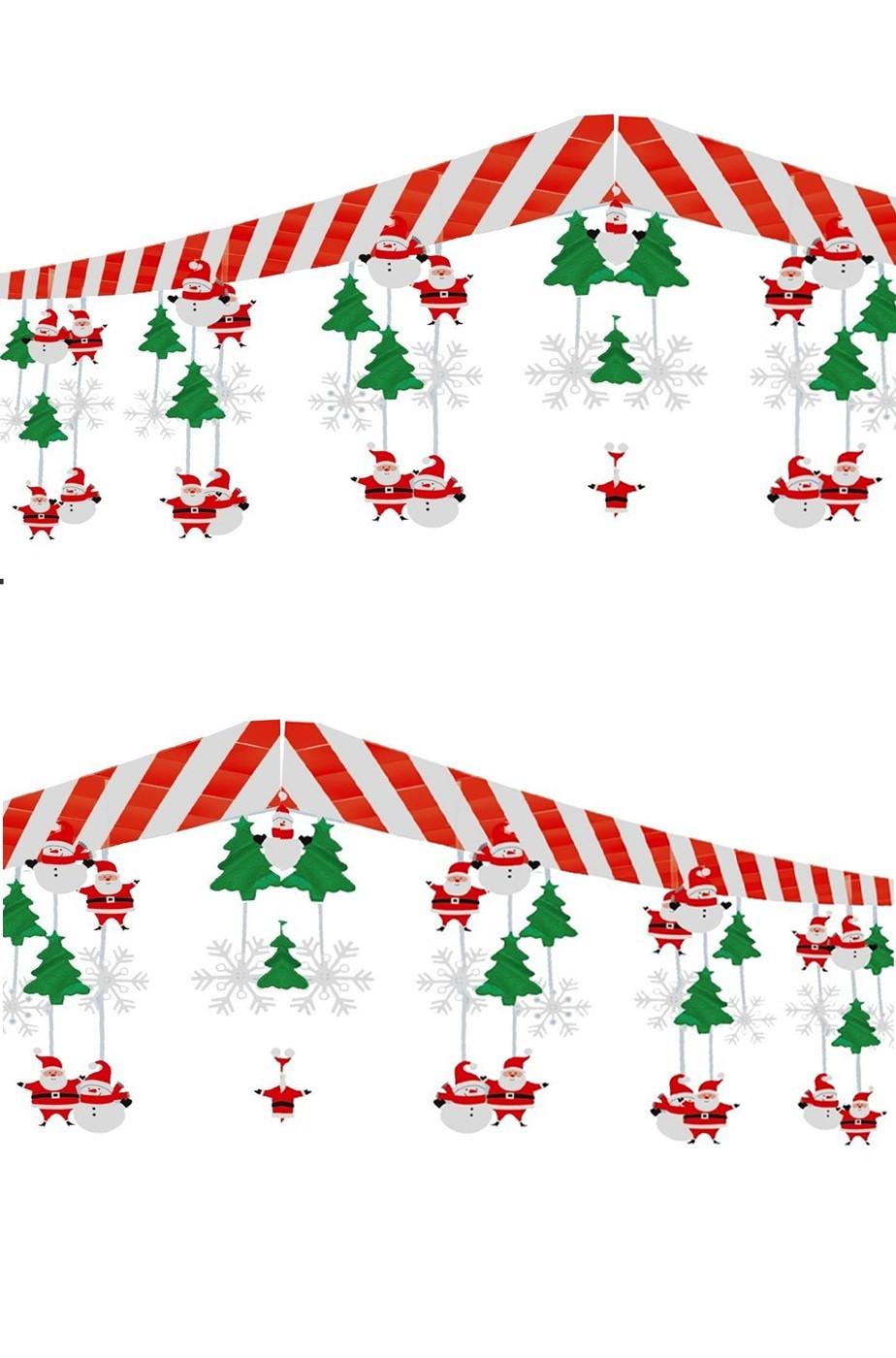 decorazioni natalizie con babbi natale