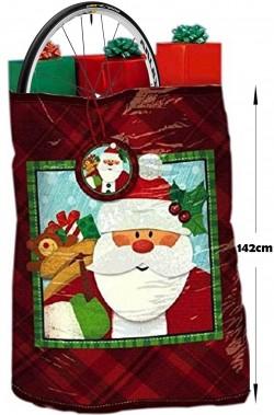 Sacco per regali di Natale grande 112cmx142cm