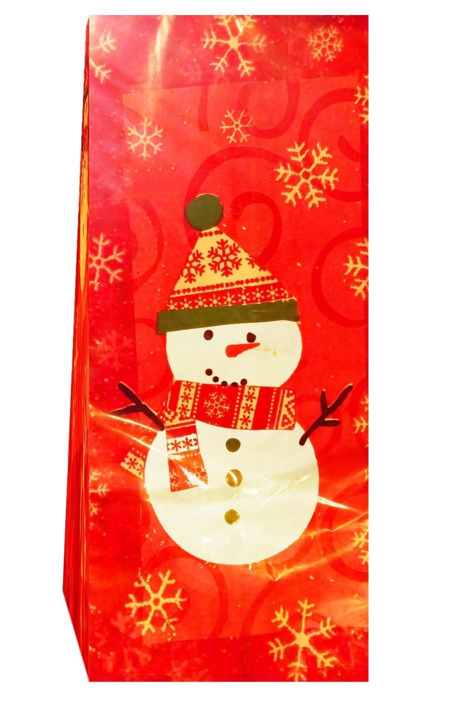 Sacchetti per regali di Natale in nylon con foglie di vischio