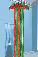Decorazione natalizia festone a colonna