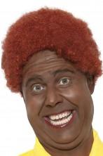 Parrucca uomo corta marrone riccia afro