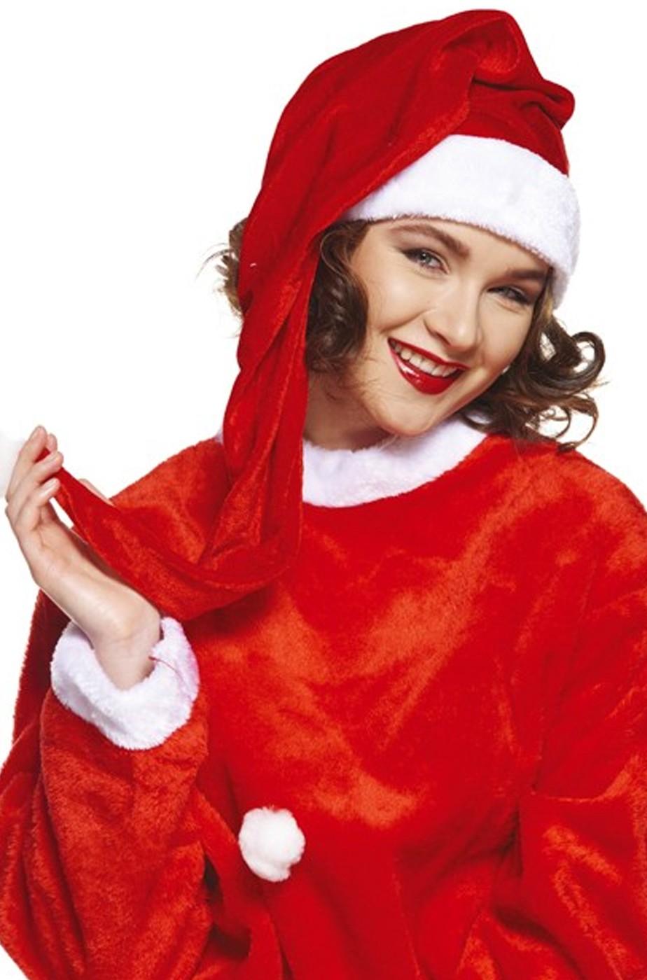 Babbo Natale 90 Cm.Cappello Babbo Natale O Babba Natale Molto Lungo Ben 90 Cm