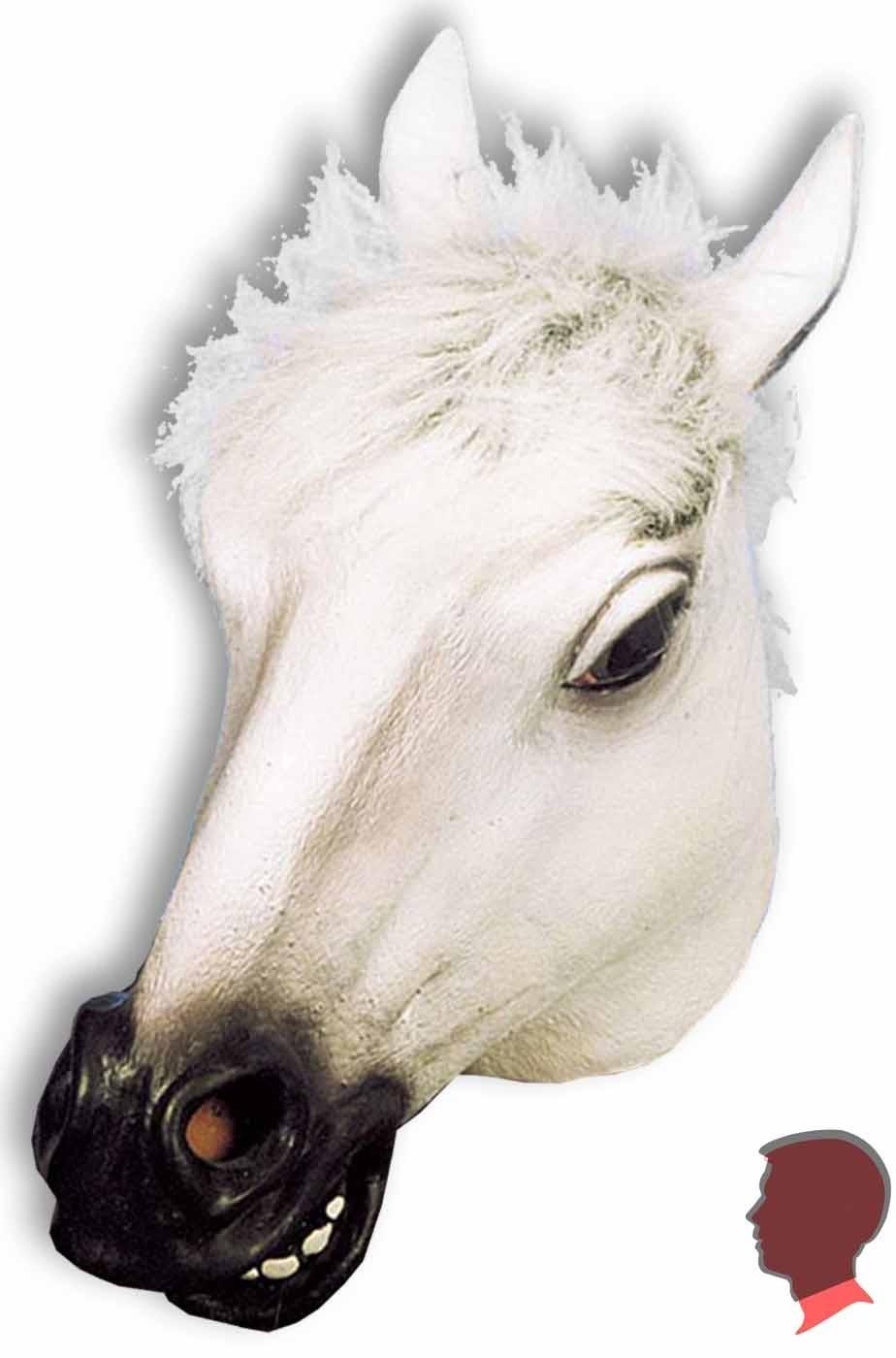 Maschera cavallo in lattice a tutta testa con pelo dietro