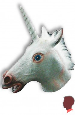 Maschera da Unicorno in vinile a tutta testa