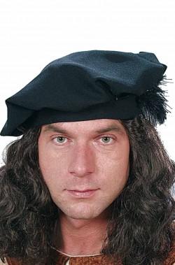Cappello Floscio rinascimentale Tudor con piuma