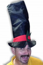 Cappello Natale Maxi Cilindro Rosso e Nero