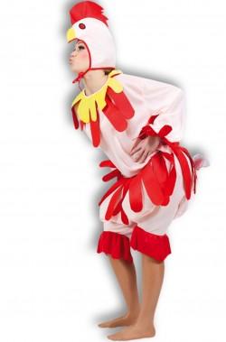 Costume da pollo da gallo o da gallina