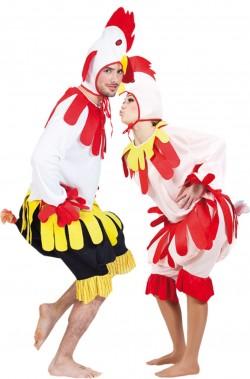 Costume da gallo gallina o pollo
