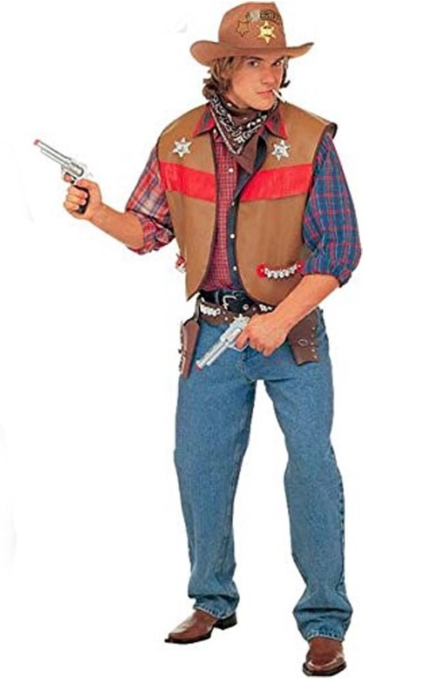 Gilet da Cowboy marrone
