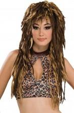 Parrucca marrone lunga Rasta o primitiva
