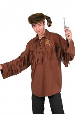 Giacca cowboy, trapper, esploratore in simil camoscio